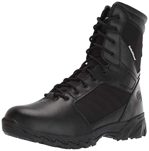 (Smith & Wesson Footwear Men's Breach 2.0 Tactical Size Zip Boots, Black,)
