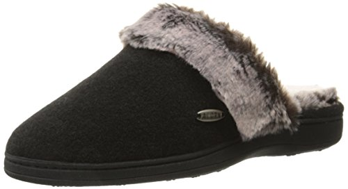 ACORN Womens Chinchilla Scuff Mule Black mZzWtxKGv9