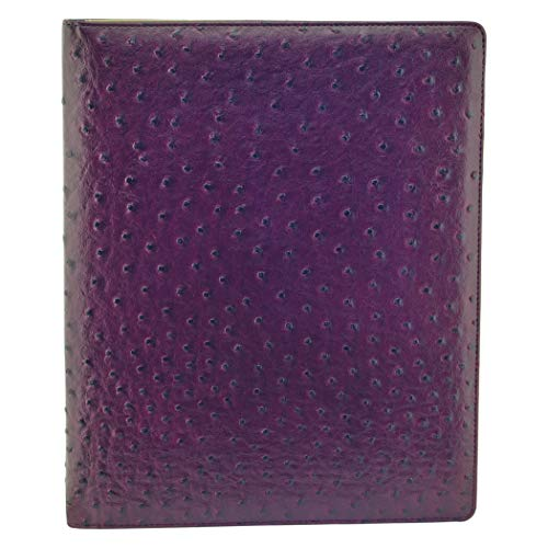 Buxton Faux Ostrich Print Writing Pad Features 2 Large Document Pockets On Inside Front Cover (ST39006.MR) ()