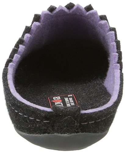 Haflinger Damen Everest Lotta Pantoffeln Grau (Graphit)