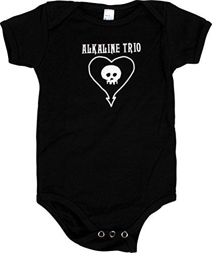 Trio alcalino mostrato Heartskull Toddler come Onesie rrqXOd