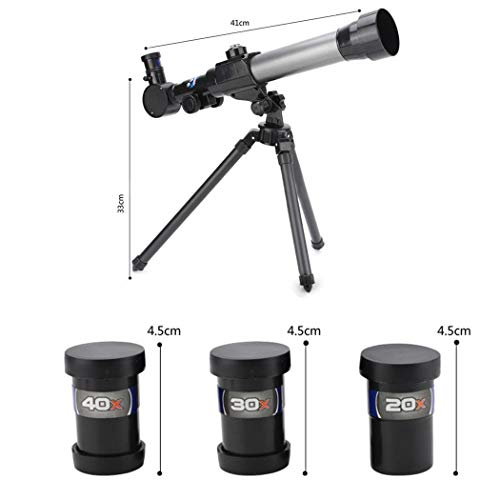 Acecor Children's Science Telescope, Students Astronomy Inspiration Exploring Science Astronomical Telescope Toy 20x/30x/40x Magnifying Glass by Acecor (Image #1)