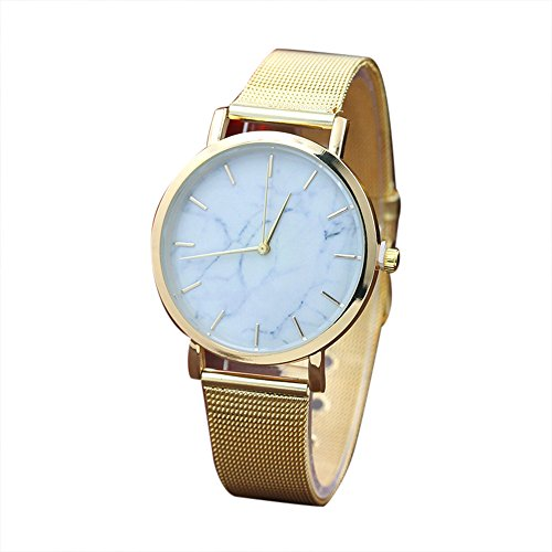 - Fashion Women Marble Surface Watch Stainless Steel Band Quartz Movement Wrist Watch,Outsta 2019 Fashion Watches Birthday Lover Gift Spring Deals!Hot (Gold)