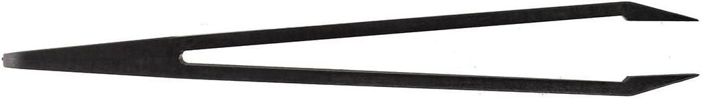 Gaoominy Outil manuel plastique Noir Pince a epiler plat pointe anti-statiques