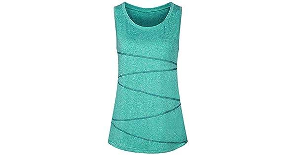 Amazon.com: Inverlee - Camiseta sin mangas para mujer, para ...