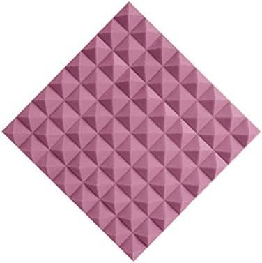 高密度音響パネル、設置が簡単な20PCSカラー屋内ピアノルーム録音スタジオベッドルーム吸音綿 (Color : Purple)