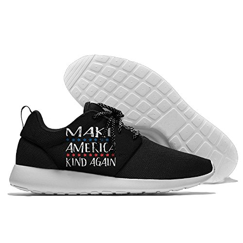 CREAMYARD Mens Better America Breathable Mesh Leisure Sports Shoes Printing Soft Sole Sports Running Shoes m84fb