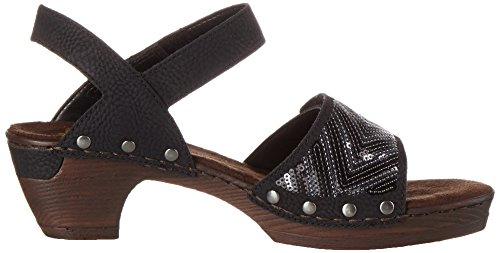 Rieker Women's 66868 Wedge Heels Sandals Black (Schwarz / 00) pDNGKRtxp8
