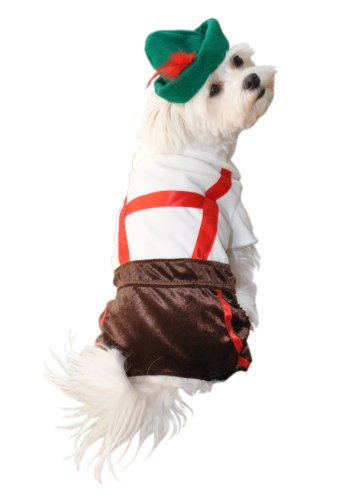 Anit Accessories Lederhosen Dog Costume, -