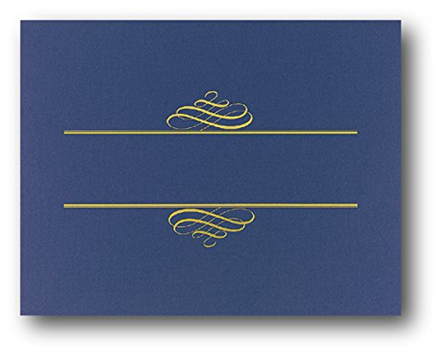 Navy Blue Value Crest Certificate Cover - 25 Covers