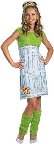 Oscar the Grouch Tween Costume - X-Large -