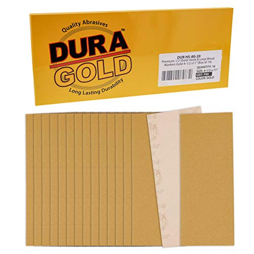 16 Lijas Dura-Gold 11.4cm x 28cm Grano 80