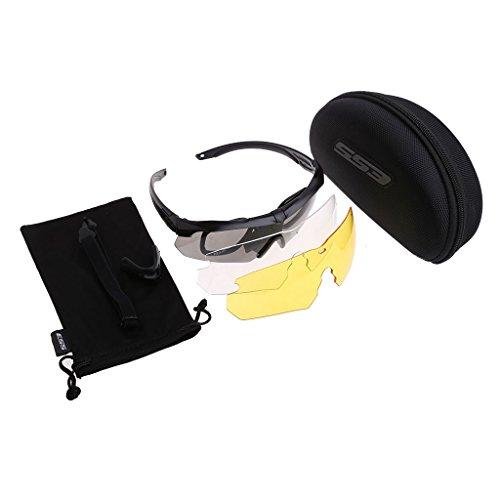 Snowboard Dustproof Sunglasses (Black) - 5