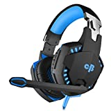 Cosmic Byte Kotion Each Over the Ear Headsets with Mic & LED - G2000 Edition (Blue, Rubberized Texture)