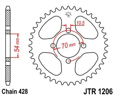 Amazon Com Front Rear Sproket Kit For Honda Cbr125 R 456789
