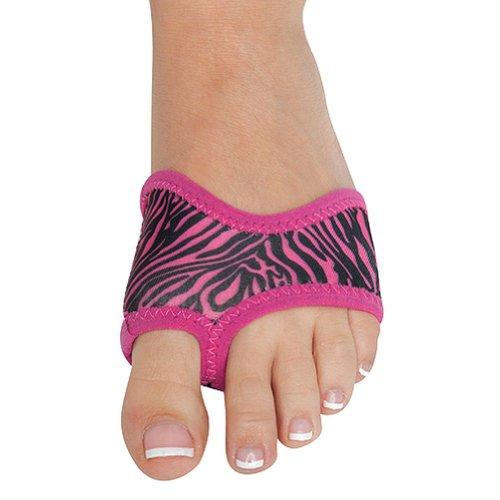 Danshuz PINK ZEBRA Print Neoprene Half Sole Dance Shoes for sale  Delivered anywhere in USA