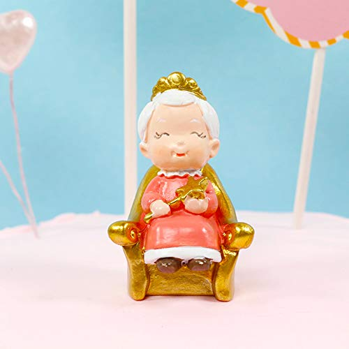 Grandma Cake Toppers Cupcake Decoration, 50th 60th 70th 80th 90th 100th Birthday Party Decoration