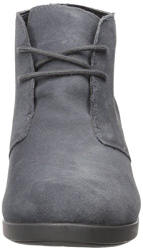 Women's Boot Crocs Leigh Grey Tan Wedge Suede Shootie v1xwnZSq