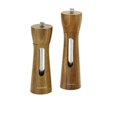 Rachael Ray Tools and Gadgets 2-Piece Natural Acacia Salt and Pepper Grinder Set