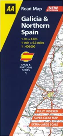 Map Of Northern Portugal And Spain.Galicia And Northern Spain Aa Road Map Spain Portugal Amazon Co