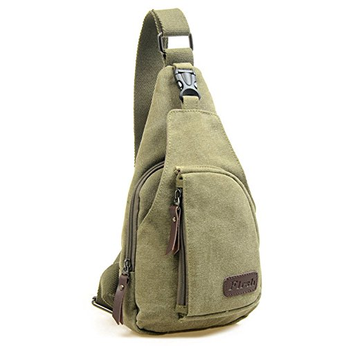 Sunsun99 Men Military Backpack Tactical Camping Bike Messenger Shoulder Sling Chest Bag #21Army Green