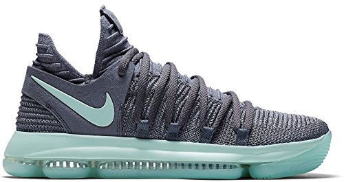 NIKE Mens Zoom KD 10 X Mens Basketball Sneakers New, Cool Grey Igloo White 897815-002 (14)