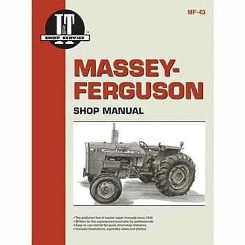 amazon com i t shop manual mf 43 massey ferguson 270 270 265 265 rh amazon com Massey Ferguson MF40 Industrial Shop Manual Shop Manual for Massey Ferguson Square Bailer