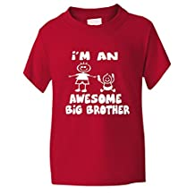 Print4u I'm An Awesome Big Brother Funny Kids T shirt Age 1-13 Years