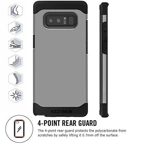 Samsung Galaxy Note 8Schutzhülle, ezzymob®, TPU-Gummi, Polykarbonat grau