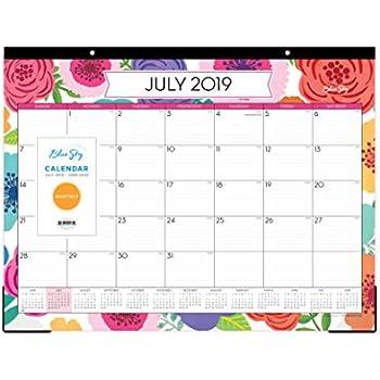 Amazon Com Day Designer For Blue Sky 2019 Monthly Desk