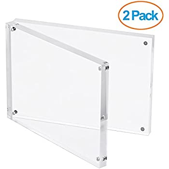 utenlid 2 pack of 5 x 7 extra thick double sided magnetic desktop acrylic - Double Sided Picture Frame