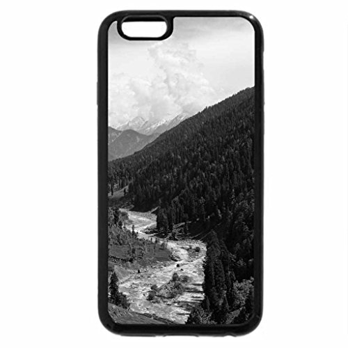 iPhone 6S Plus Case, iPhone 6 Plus Case (Black & White) - Lidder River valley in Kashmir India