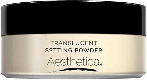 Aesthetica Translucent Loose Setting Powder – Matte Finishing Powder – Flash Friendly - Includes Velour Puff