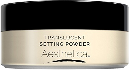 (Aesthetica Translucent Loose Setting Powder – Matte Finishing Powder – Flash Friendly - Includes Velour)