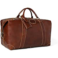 b37a9160c6 ROCKCOW Vintage Look Men s Leather Weekender Duffel Bag Luggage Holdall