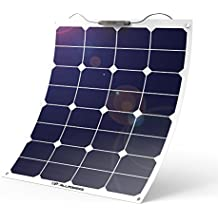 ALLPOWERS 18V 12V 50W Bendable SunPower Solar Panel Water/ Shock/ Dust Resistant Power Solar Charger for RV, Boat, Cabin, Tent, Car, Trailer, Camping or Any Other Irregular Surface