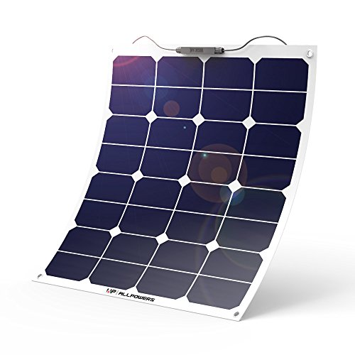 ALLPOWERS 18V 12V 50W Bendable SunPower Solar Panel Water/Shock/Dust Resistant Power Solar Charger for RV, Boat, Cabin, Tent, Car, Trailer, Camping or Any Other Irregular Surface