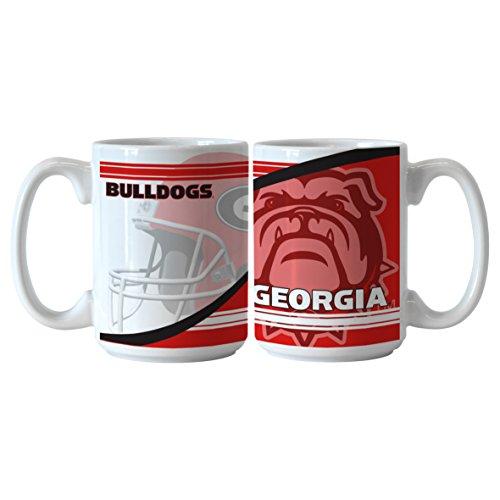 NCAA Georgia Bulldogs Ceramic Split Mug, 15-ounce, (Ncaa Georgia Bulldogs Ceramic)
