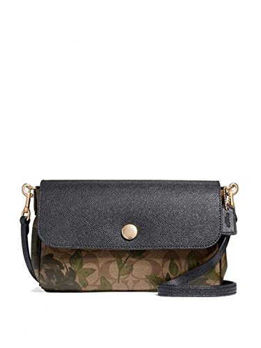 COACH F28188 REVERSIBLE CROSSBODY WITH CAMO ROSE FLORAL PRINT - Handbags Camouflage Coach