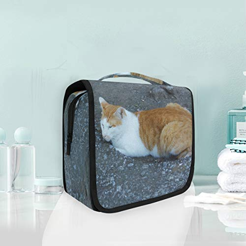 (Cosmetic Makeup Toiletry Bag Travel Cat Snow Nose Whiskers)