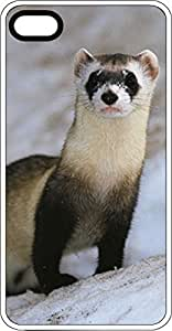 Endangered Black Footed Ferret White Rubber Case for Apple iPhone 4 or iPhone 4s