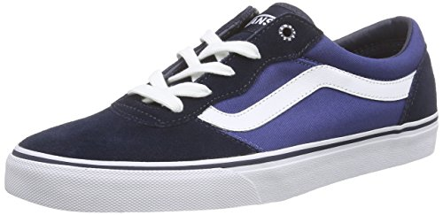 Vans Herren Milton Low-Top Blau (suede Canvas/navy/stv Navy)