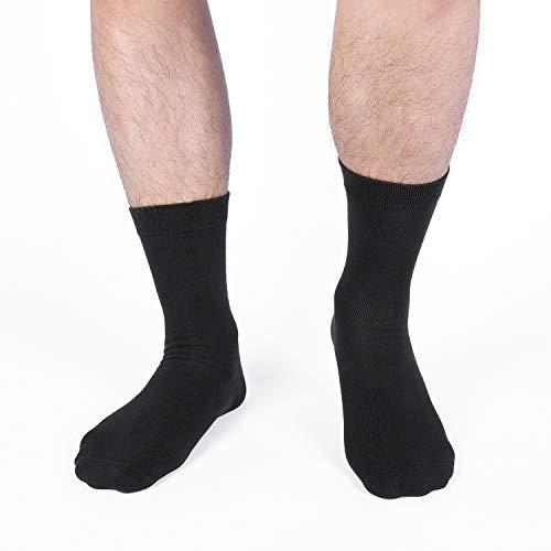 Lapulas Socken Herren 43-46 39-42 35-38 47-50 Damen 6 Paar Wandersocken Baumwolle Sportsocken Schwarz Arbeitssocken Atmungsaktive Herren Socken (Schwarz ohne Frotteesohle ohne Streifen, 43-46)