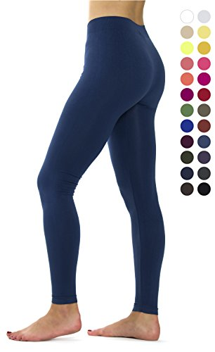 Ylluo Premium Fleece Lined Leggings Soft Tights (S/M/L (US Size 2-10), Denim Blue) (Blue Denim Effect)