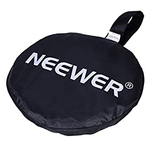 "Neewer Portable 5 in 1 59""x79""/150x200cm Translucent, Silver, Gold, White, and Black Collapsible Round Multi Disc Light Reflector for Studio or any Photography Situation"