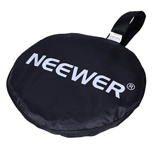 Neewer Portable 5 in 1 120x180cm/47x71 Translucent, Silver, Gold, White, and Black Collapsible Round Multi Disc Light Reflector for Studio or any Photography Situation