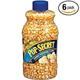 Pop Secret Jumbo Popping Corn,  30-Ounce Jars (Pack of 6)
