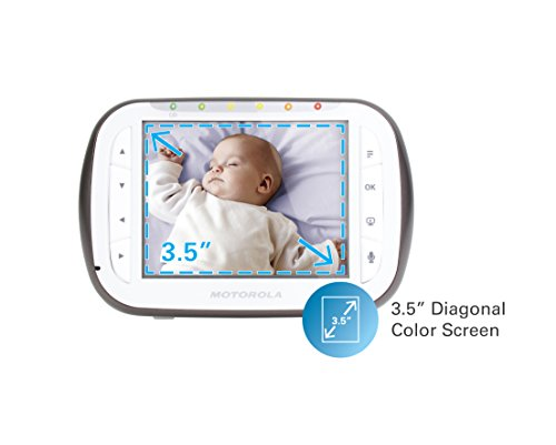 free shipping motorola digital video baby monitor with 2 cameras 3 5 inch color video screen. Black Bedroom Furniture Sets. Home Design Ideas