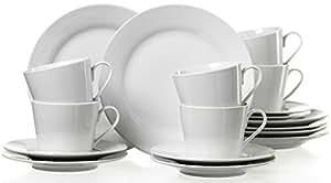 Ritzenhoff & Breker 079456  - Juego de café (18 piezas), color blanco