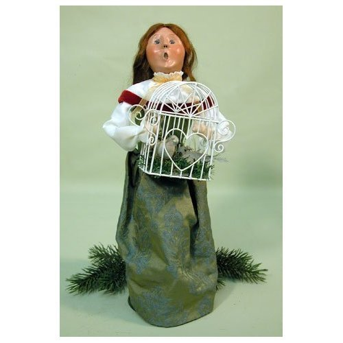 12 Days of Christmas: Two Turtledoves Woman Figurine by Byers' Choice
